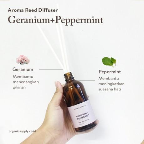 Geranium + Peppermint Certified Organic Home Reed Diffuser